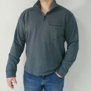 Men Dockers Grey Cotton Sweater L